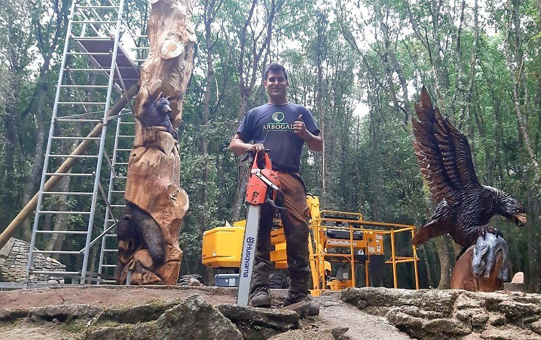 Esculturas en madera que parecen reales